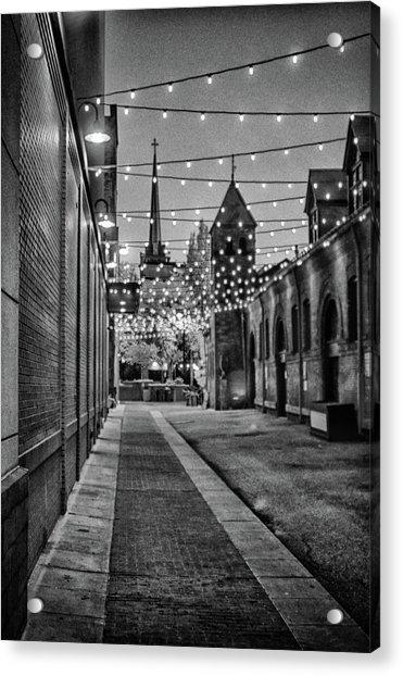 Bw City Lights Acrylic Print