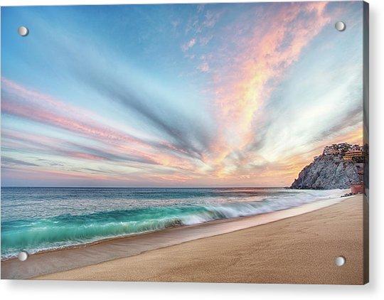 Cabo San Lucas Beach Wave Sunset Acrylic Print