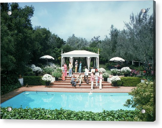 California Pool Party Acrylic Print by Slim Aarons