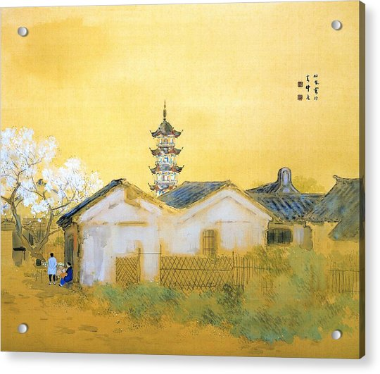 Calm Spring In Jiangnan - Digital Remastered Edition Acrylic Print