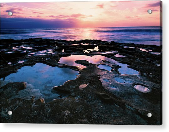 Candy Colored Pools Acrylic Print