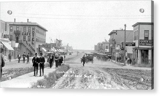 Centre Street  Assiniboia  Sasketchewan  Ca 1921 Acrylic Print
