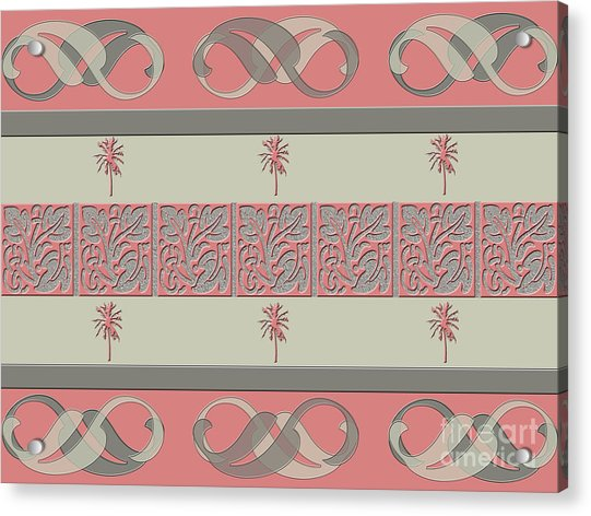 Cheery Coral Pink Acrylic Print