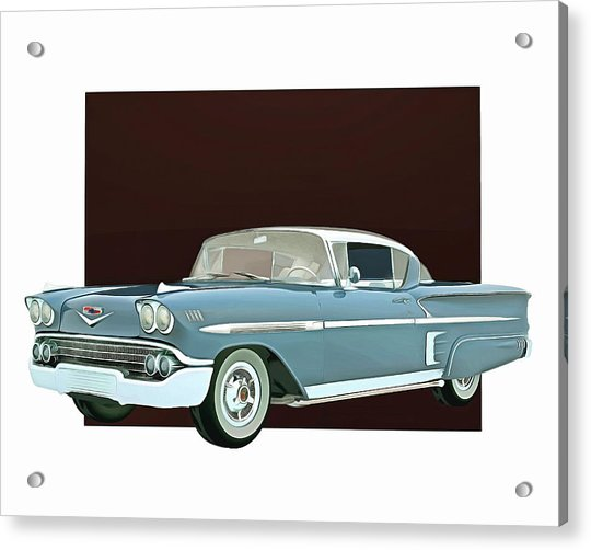 Acrylic Print featuring the digital art Chevrolet Impala Special Edition by Jan Keteleer