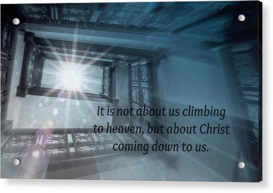 Christ Alone Acrylic Print
