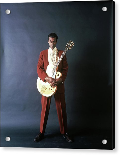 Chuck Berry Portrait Session Acrylic Print by Michael Ochs Archives
