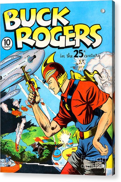 Classic Comic Book Cover Buck Rogers First Issue Acrylic Print