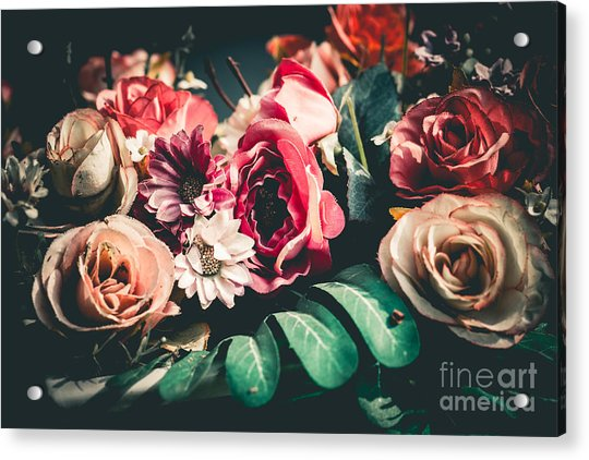 Close Up Colorful Bunch Of Beautiful Acrylic Print