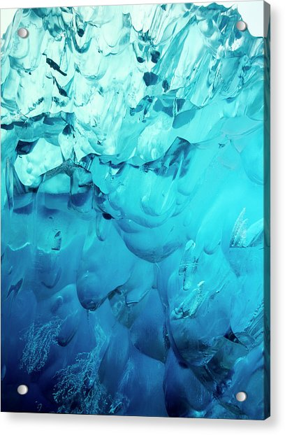 Close-up Of Blue Ice In An Iceberg Acrylic Print by Stuart Westmorland