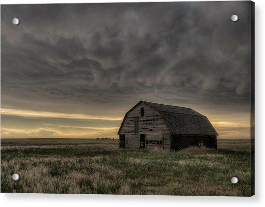 Clouds And Barn Acrylic Print