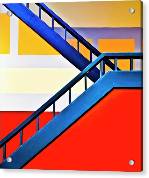 Colorful Climb Acrylic Print by By Wesbs