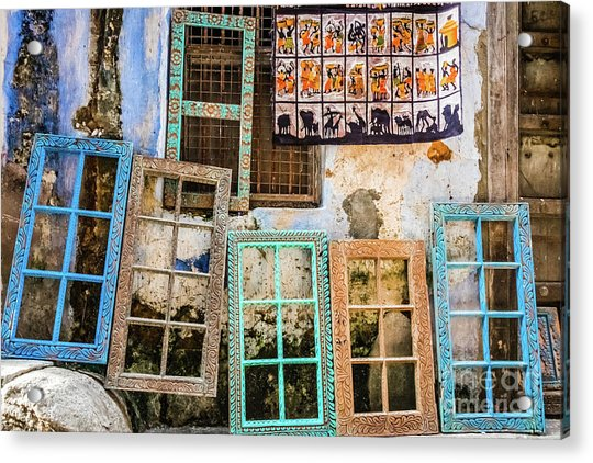 Colorful Window Frames Acrylic Print