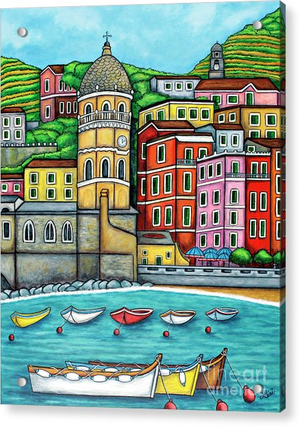 Colours Of Vernazza Acrylic Print