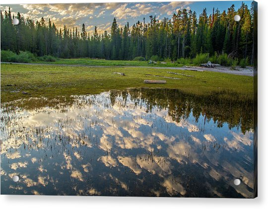 Colter Bay Reflections Acrylic Print