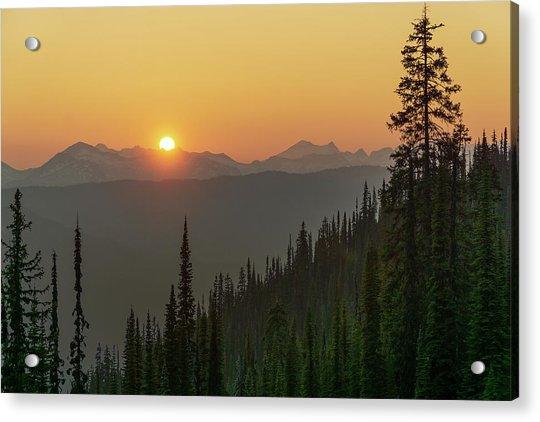 Columbia Mountain Sunset Acrylic Print