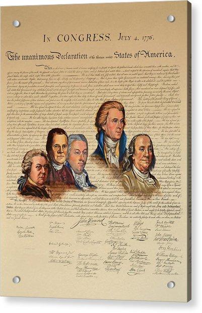 Committee Of Five Acrylic Print