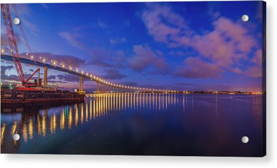 Coronado Bridge Sunrise - Panorama Acrylic Print