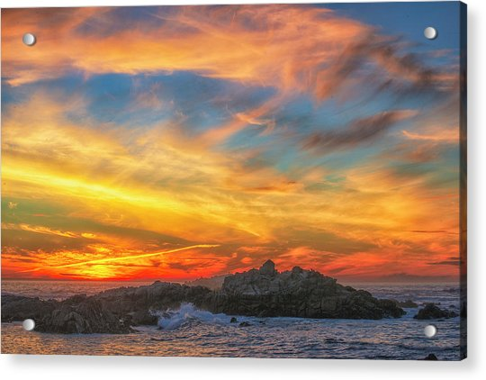 Couds At Sunset Acrylic Print by Fernando Margolles