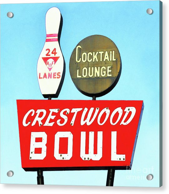 Crestwood Bowl Bowling Alley 20190105 Square Acrylic Print