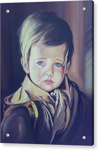 Crying Child Acrylic Print