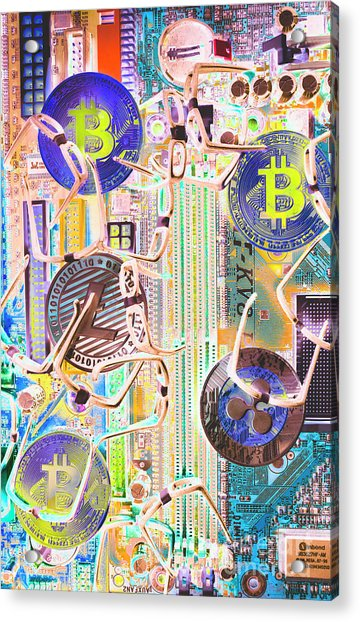 Cryptocurrency Circuitry Acrylic Print