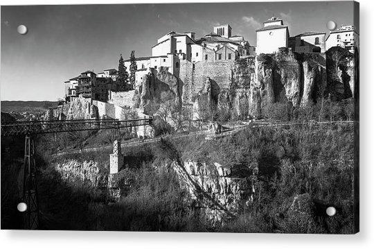 Cuenca Spain And Saint Paul Bridge Acrylic Print