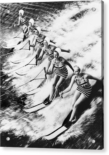 Curiosity  Water Show Acrylic Print by Keystone-france