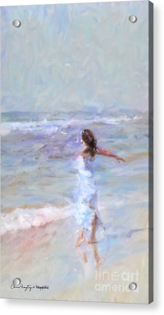 Dancing On The Sand Acrylic Print
