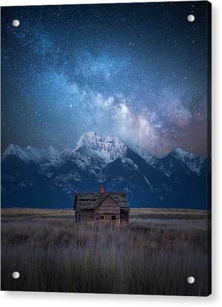 Dark Skies Last Frontier / Mission Mountains, Montana  Acrylic Print