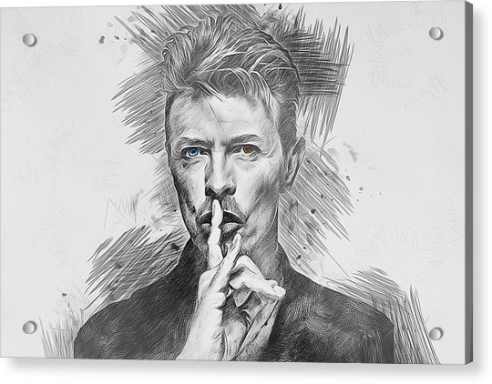 David Bowie. Acrylic Print