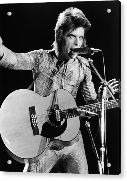 David Bowie Performing As Ziggy Stardust Acrylic Print