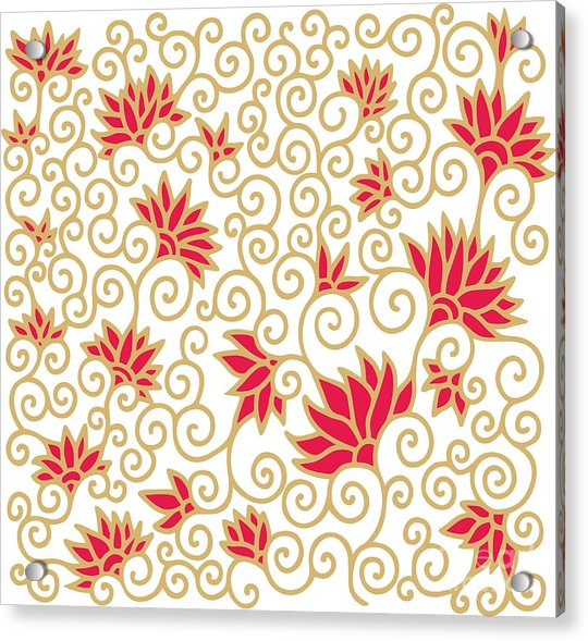 Decorative Floral Composition With Acrylic Print by Aniana