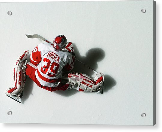 Detroit Red Wings V New York Islanders Acrylic Print by Al Bello