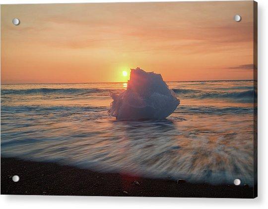 Diamond Beach Sunrise Iceland Acrylic Print
