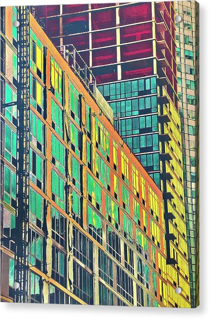 Downtown Acrylic Print by Gillis Cone