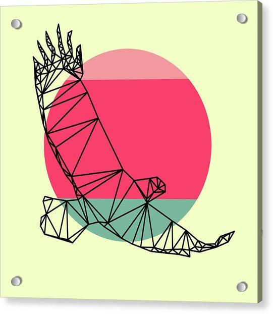 Eagle And Sunset Acrylic Print
