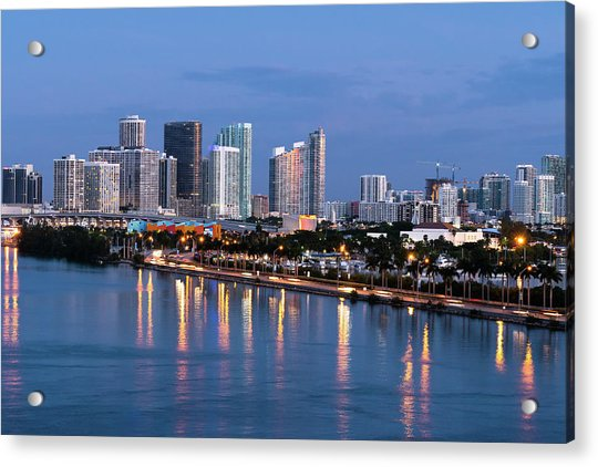 Early Rise Miami Acrylic Print