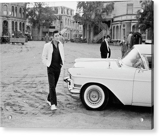 Elvis On Set Acrylic Print by Archive Photos