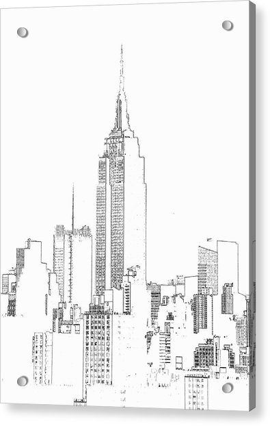 Empire State Building  Photographic Acrylic Print by Michael Duva