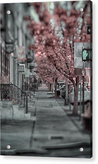 Empty Sidewalk Acrylic Print