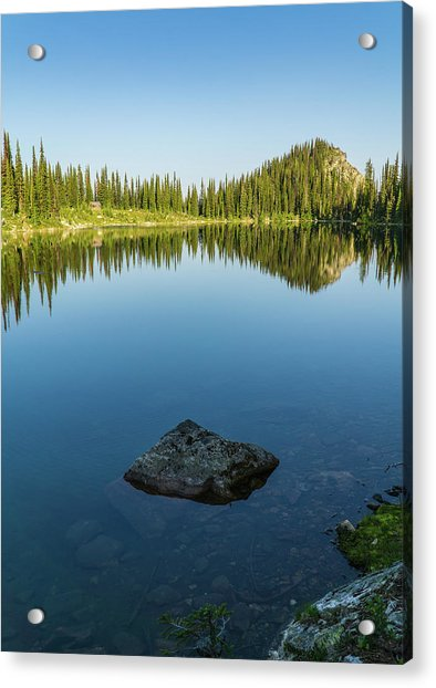 Eva Lake Mirror Acrylic Print