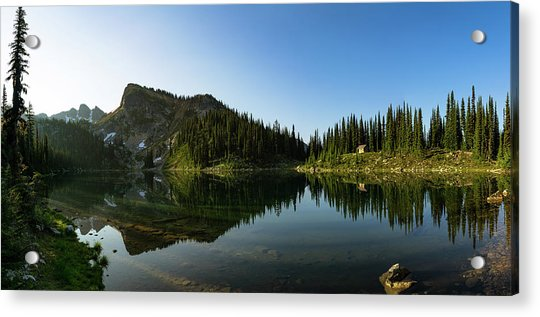Eva Lake Panorama Acrylic Print