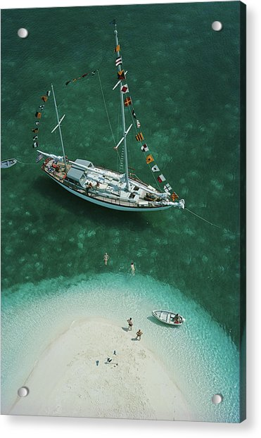 Exuma Holiday Acrylic Print by Slim Aarons