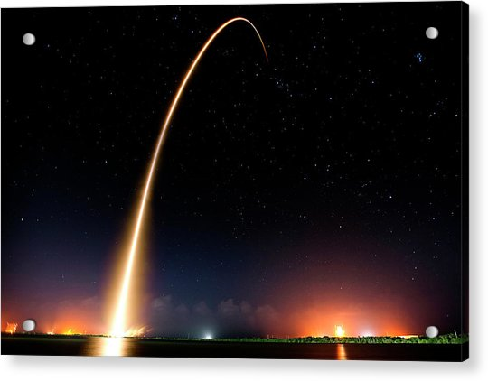 Falcon 9 Rocket Launch Outer Space Image Acrylic Print