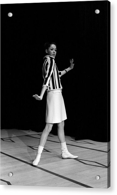 Fashion Mini Dress Courreges In France Acrylic Print by Reporters Associes