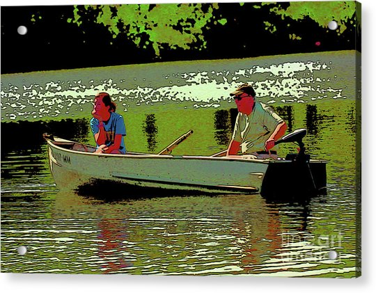 Father And Daughter Go For Boat Ride 2 Acrylic Print