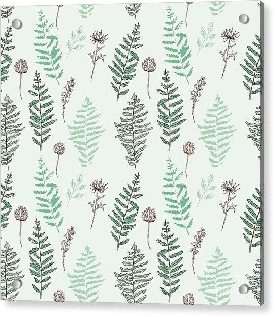 Fern Seamless Pattern. Botanical Acrylic Print