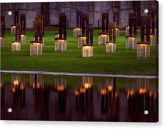 Field Of Empty Chairs Acrylic Print