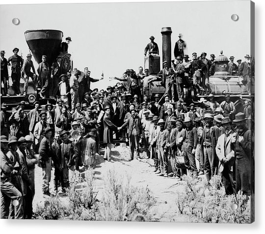 First Opening Of The Transcontinental Railroad - 1869 Acrylic Print