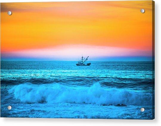 Fishing Boat Acrylic Print by Fernando Margolles